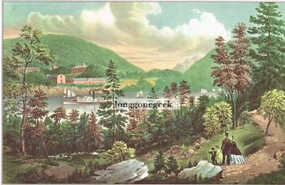 """WESTERN FRONTIER/"""" COLOR Lithograph 1952 Vintage Currier /& Ives /""""PIONEER/'S HOME"""