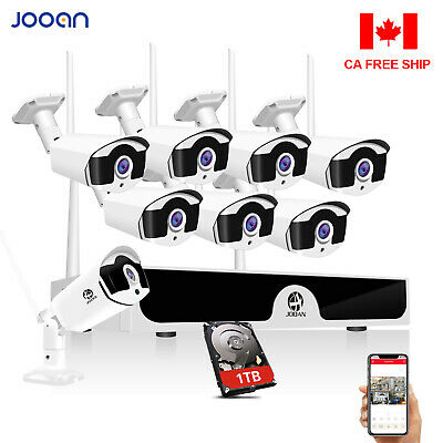 JOOAN 8CH / 4CH Wireless 1080P HDMI Outdoor WIFI Camera CCTV Security System 1TB