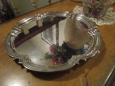 "Antique Cooper Bros. Sheffield Silver Plate  Footed Salver Tray 10"" England"