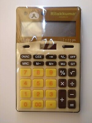 New San-X Rilakkuma Calculator Relax Bear