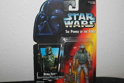 1995 Star Wars Power Of The Force Boba Fett Orange Card Half Circle On Hands
