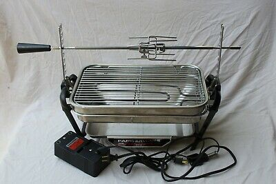 VTG Farberware Open Hearth Indoor Electric Rotisserie Grill 455-A Tested USA EUC