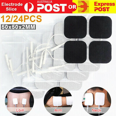 12/24X TENS Machine Massagers Replacement Electrode Pads Self-Adhesive 5*5cm OZ