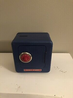 Vintage Fort Knox Toy Safe Bank By Superior Toy Mfg. Combo On Bottom Cool! Nice!