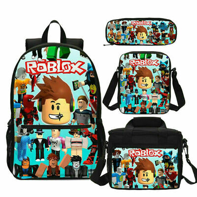 Roblox Schoolbag Kid Boys Backpack Insulated Lunch Bag Pen Bag Wholesale Purses