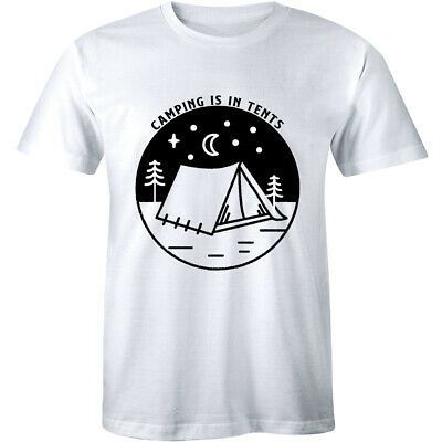 Camping Is In Tents With Tent Image T-Shirt for Men