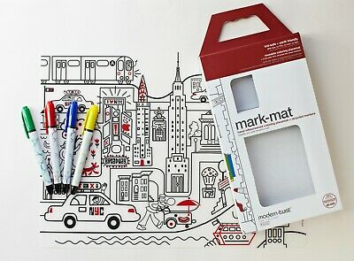 Modern Twist Silicone Colouring Placemat Kids Mark Mat, Colour in Placemat