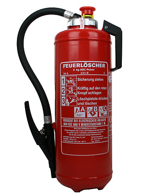 6kg Abc Powder Charging Fire Extinguisher 34A = 10 le Internal CO2 Cartridge