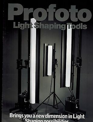 PROFOTO LIGHT SHAPING TOOLS CATALOG/BROCHURE (ORIGINAL PRINT/not copies)