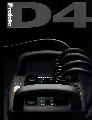 PROFOTO D4 CATALOG/BROCHURE (ORIGINAL PRINT/not copies)