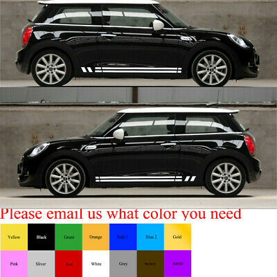 Decal Sticker Lower Side Door Stripe Graphics Body Kit for Mini Cooper S Hatch