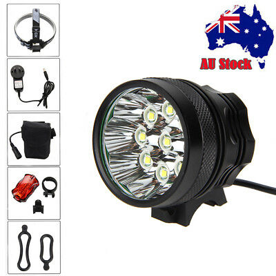 Super Bright 50000LM 9x T6 LED Bike Bicycle Head Light Front Headlamp Taillight