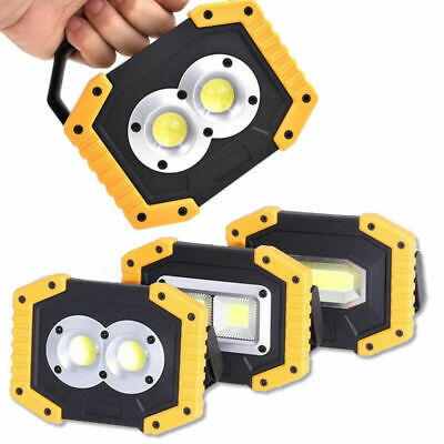 30W LED Rechargeable Portable Outdoor Flood Light Spot Work Lamp Camping Fishing
