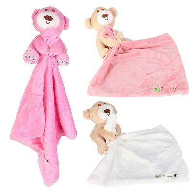 Best Cartoon Bear Soothing Towel Soft Cloth Book Comforting Baby Toys Teething