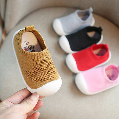 Newborn Baby Boy Girl Soft Sole Pram Shoes Lovely Trainers Pre-walker 8-24M Hot