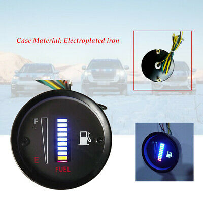 2inch Car Motorcycle 10LED Electroplated iron Fuel Level Meter Digital Gauge