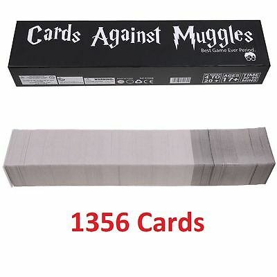 Cards Against Muggles 1356 Cards Table Game Party Home Gift US Stock