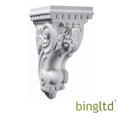 "BingLTD - 10"" White Resin Grape Corbel - 1 Piece (C-Resin-Grape-White)"