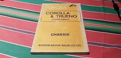 Toyota ke30 trueno corolla chassis e30 workshop manual book te37 english z63