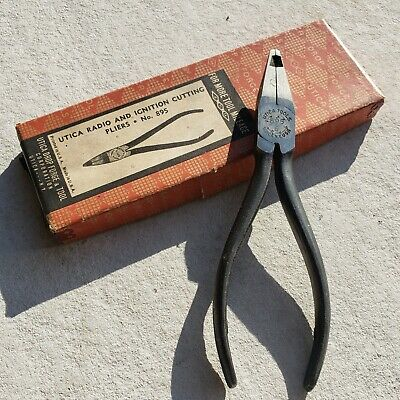 NOS NIB Utica Radio Ignition Cutters Pliers USA Tool VTG Old Wire Electrician