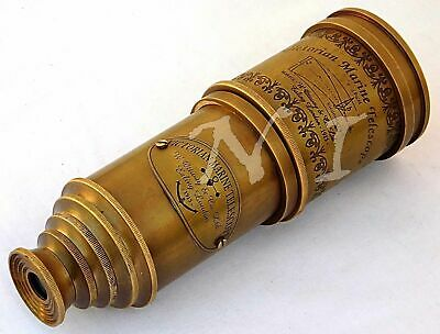 "Old Antique Style Replica Marine Telescope 18"" Maritime Nautical Brass Spyglass"