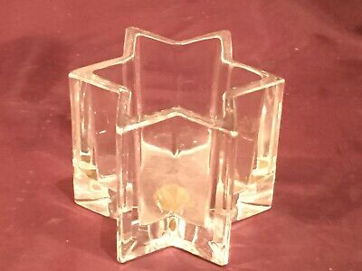 Vintage Royal Crystal Rock six sided star shaped pot - lead glass