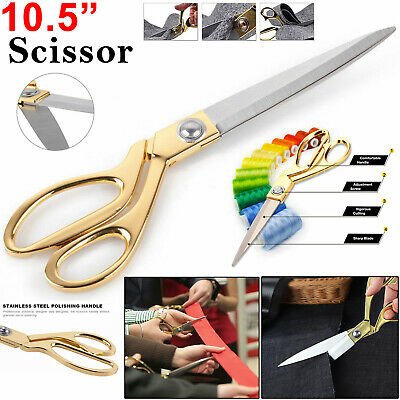 """10.5"""" Tailoring Scissors Stainless Steel Dressmaking Shears Fabric Craft Cutting"""