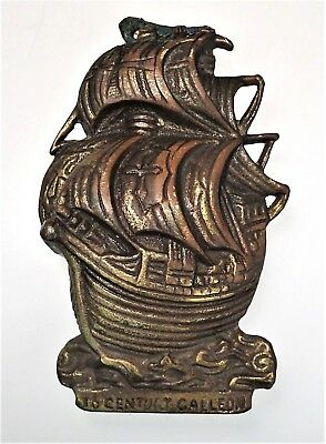 16th Century Galleon Brass Door Knocker Tall Ship England