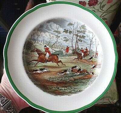 1920s/30s Copeland Spode Hunting Gone Away Salad Plate 9.1''