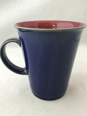 "Denby Harlequin GRANDMUG Blue Red 4 1/2"" Coffee Mug / Tea Cup - SHIPS FREE!"