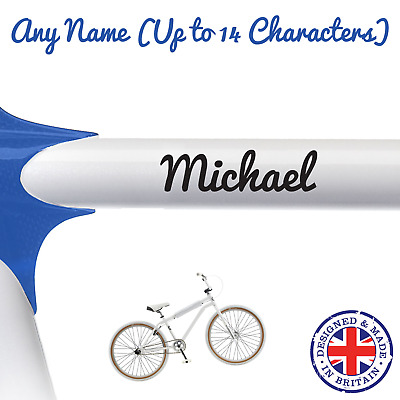 2 x Personalised Name Stickers for Bike Helmet Crash Font Vinyl Decal BMX kids