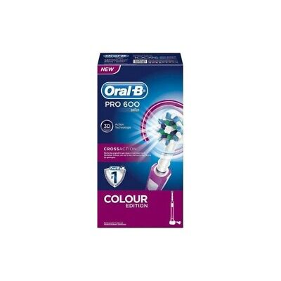 ORAL-B pro 600 crossaction colour edition electric toothbrush pink