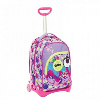 SEVEN School Backpack with Trolley SJ Face Girl
