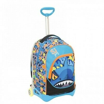 SEVEN School Backpack with Trolley SJ Gang Animals Boy