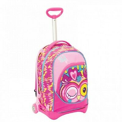 SEVEN School Backpack with Trolley SJ Gang Animals Girl