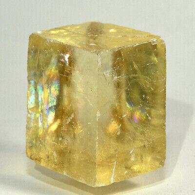 42mm Rainbow Optical Calcite Crystal Sparkling Natural Iceland Spar Stone Brazil