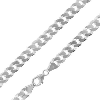 Trendor Jewellery Men's Necklace Silver 925 Curb Chain Wide 7,8 mm 75232