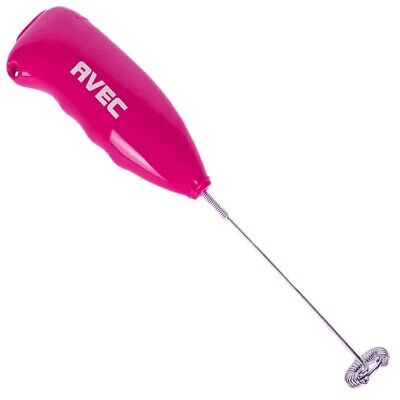 Avec Pink Greek Nescafe Frappe Coffee Mixer Frother Aa Battery Operated