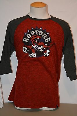 Brand New Majestic NBA Toronto Raptors Hardwood Classics 3/4 Sleeve Shirt