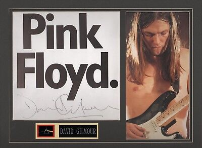 David Gilmour autograph. Pink Floyd. Dark Side of the Moon. The Wall. FA LOA.