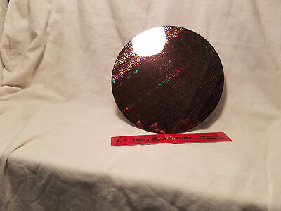 "silicon wafer. 8""Microchip Pattern waffer on silicon"