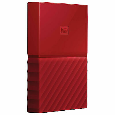 Western Digital My Passport 1TB Portable External Hard Drive (Red)