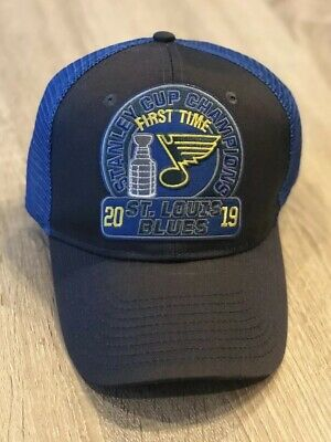 2019 St. Louis Blues Stanley Cup Hat Cap FIRST TIME Champions NHL Patch Champs