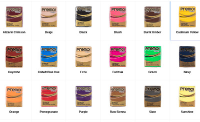 Premo! Sculpey Clay Various Colors New! Free Shipping!
