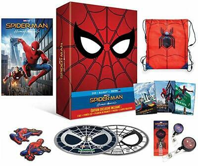 Dvd Bluray Spiderman Homecoming Exclusive Collector Sac Porte Cle Magnets Neuf