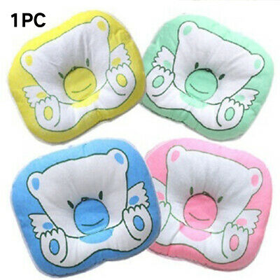 Soft Baby Pillow Infant Toddler  Bedding Bear Print Oval New Arrival