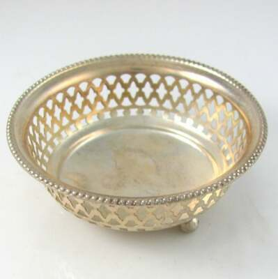 Gorham Sterling Silver Open Salt Master Pierced Bowl