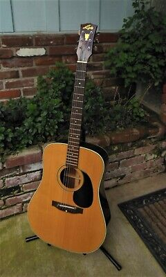 MIJ Lyle Dreadnaught Acoustic Guitar Nice Player Open Book Headstock