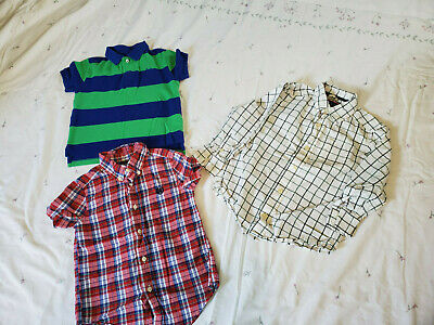 Little Toddler Boys Shirts Lot of Three Size 4T Chaps Childrens Place
