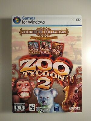 ZOO TYCOON 2 Expansion Pack Lot (Marine Mania, African